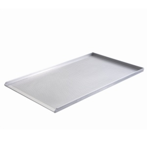 Aluminum baking tray 80 x 100 (perforated)