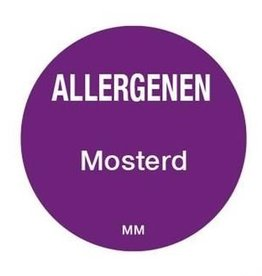 Allergy labels - mustard