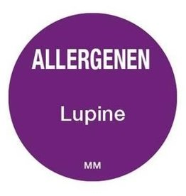 Allergy labels - lupine