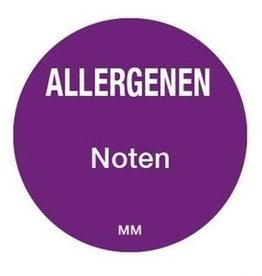 Allergy labels - nuts