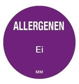 Allergy labels - egg