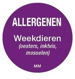 Allergy labels - molluscs