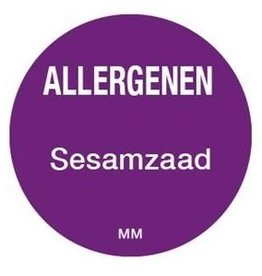 Allergy labels - sesame seed