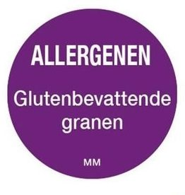 Allergy labels - gluten