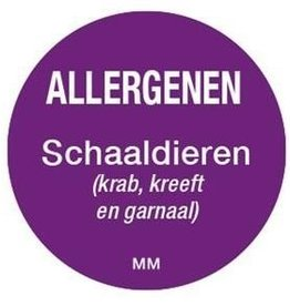 Allergy labels - shellfish