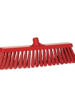 Vikan Hard broom, red