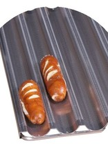 Baguette tray oncoated