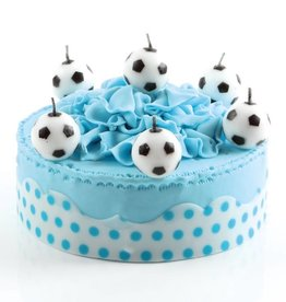 Candle football 3 cm  (6 pieces)