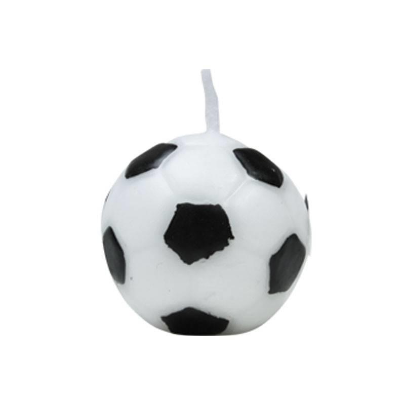 Kaars voetbal 3 cm  (6 stuks)