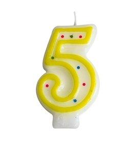 Zahlenkerze Nr. 5  (24 Stück)