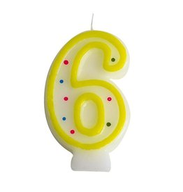 Number candle no. 6  (24 pieces)