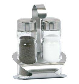 Pfeffer und Salz gesetzt