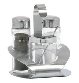 Pfeffer und Salz setzen 3 Teile