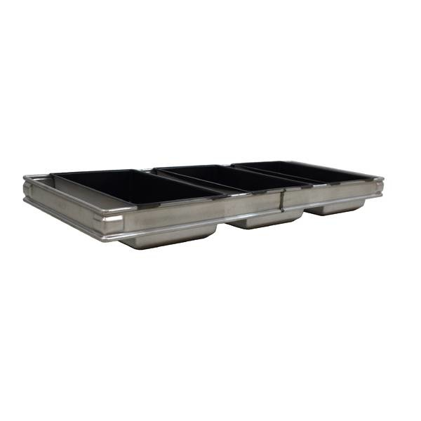 Broodkoppel 4 pans 180 x 120 x 60 mm
