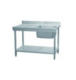 Combisteel Combisteel Demountable stainless steel sink with bottom shelf