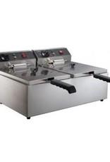 Combisteel Elektrische friteuse tafelmodel 2 x 6 liter