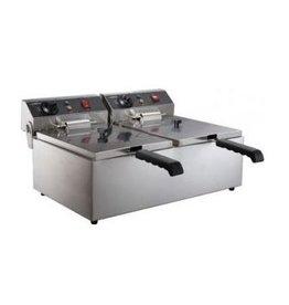 Combisteel Electric fryer table model 2 x 6 liters