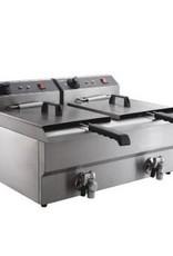 Combisteel Electric fryer table model 2 x 8 liters