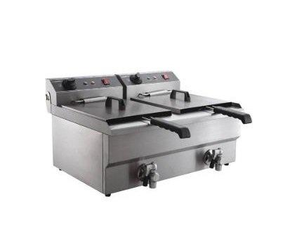 Combisteel Elektrischer Friteusentisch Modell 2 x 8 Liter