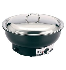 Chafing dish electric, round