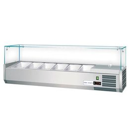 Set up refrigerated display case / Saladette