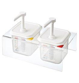 Sauce dispenser set 2 x 1/6 GN