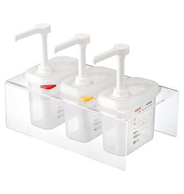 Sauce dispenser set 3 x 1/9 GN