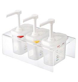 Sauce dispenser set 3 x 1/9 GN