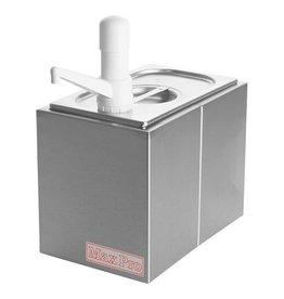 Stainless steel Sauce dispenser set 1 x 1/4 GN
