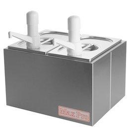 Stainless steel Sauce dispenser set 2 x 1/4 GN