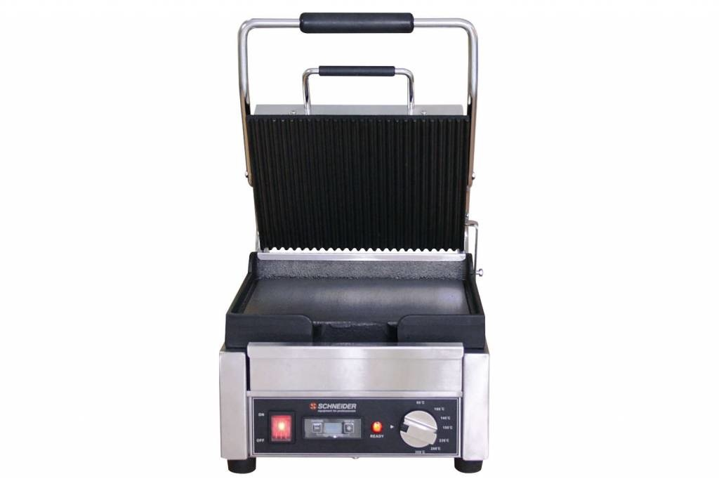 Schneider Grill small top plate ribbed bottom plate flat