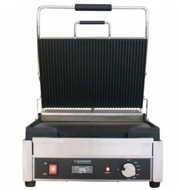 Schneider Grill large top plate ribbed bottom plate flat