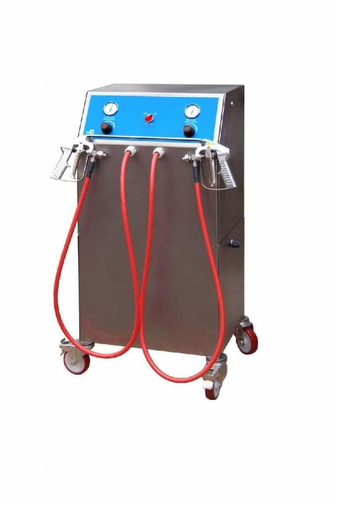 ICB Tecnologie Geleispuit machine Professional Junior Two met 1 verwarmde en 1 koude slang