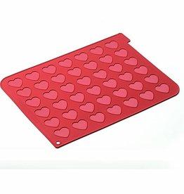Silikomart Silicone bakmat macaron hart