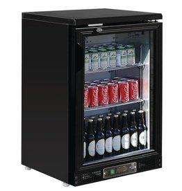 Polar Polar Bar Cooler 140 liters, single swing door, black