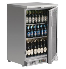 Polar Polar Bar Cooler 140 liters, single swing door, Stainless steel