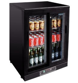 Polar Polar Bar Cooler 140 liters, single sliding door, black