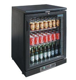 Polar Polar Bar Cooler, single swing door, black