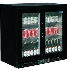 Polar Polar Bar Cooler, double sliding doors, black
