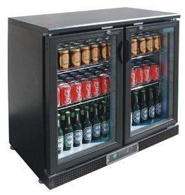 Polar Polar Bar Cooler, double swing doors, black