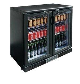 Polar Polar Bar Cooler, 223 liters, double swing doors, black