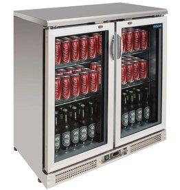 Polar Polar Bar Cooler, 223 liters, double swing doors, Stainless steel