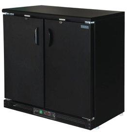 Polar Polar Bar Cooler, 223 liters, double solid swing doors, black