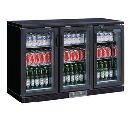 Polar Polar Bar Cooler, 335 liters, three swing doors, black