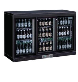 Polar Polar Bar Cooler, 335 liters three sliding doors, black