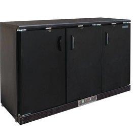 Polar Polar Bar Cooler, 335 liters, three solid swing doors, black