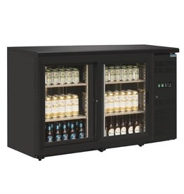 Polar Polar Bar Cooler, 350 liters, two swing doors, black