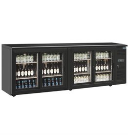 Polar Polar Bar Cooler, 698 liters, four swing doors, black