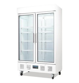 Polar Polar display cooler 945 liters, with wheels