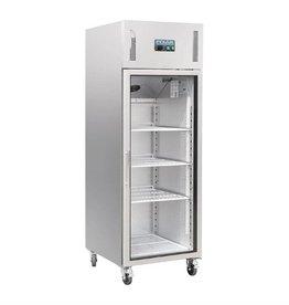 Polar Polar refrigerator 600 liters, stainless steel with glass door